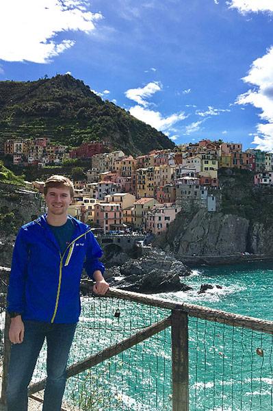 Noah Dunlap in Lake Como.