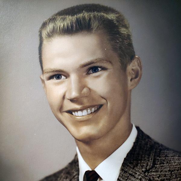 Warren Franz as a young man.