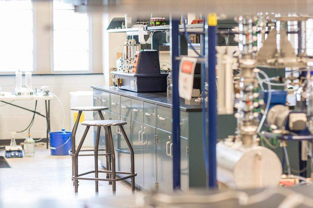 Empty Eastman Laboratory.