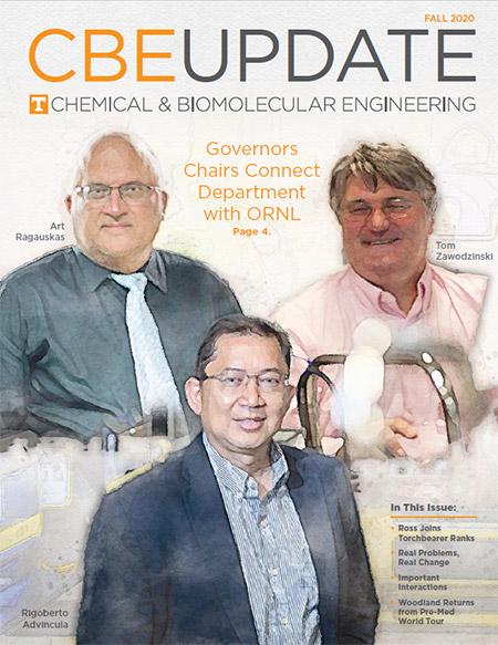 Cover of the 2020 CBE Update magazine.