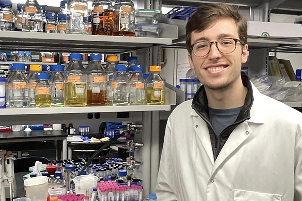 David Dooley in a laboratory.